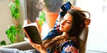 smart woman reading