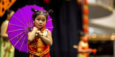 little girl celebrating Chinese New Year