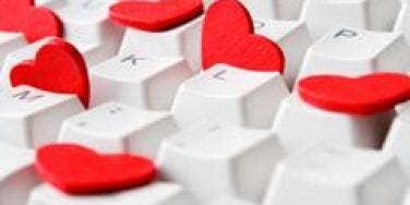 Hearts on a keyboard