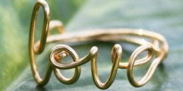 Valentine's Day gift love ring