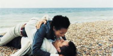 couple making out on beach