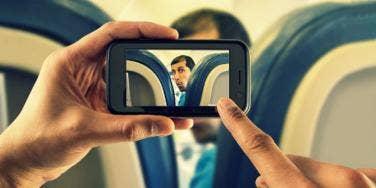 guy on plane caught