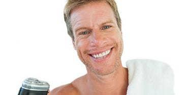 guy with razor