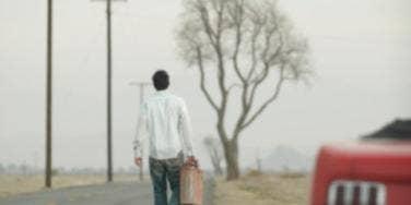 man alone road
