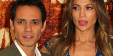 Marc Anthony and Jennifer Lopez no smiles