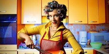 a retro housewife