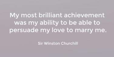 Winston Churchill marriage quote