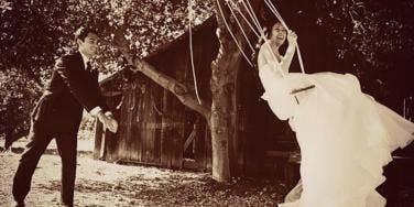 married couple swing