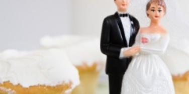 married cake toppers cupcake wedding