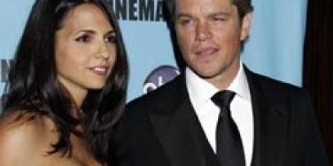 Matt Damon and Luciana Damon
