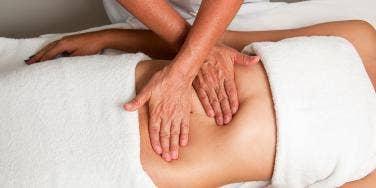 stomach massage