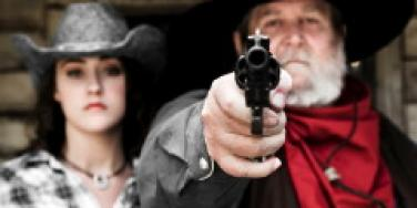 father with gun