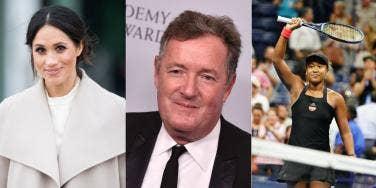 Meghan Markle, Piers Morgan And Naomi Osaka