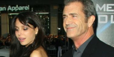 Mel gibson with girlfriend oksana
