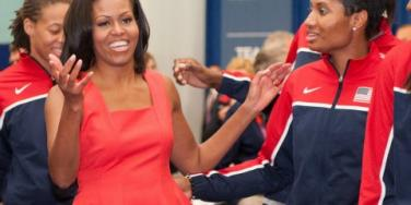 Michelle Obama at Olympics