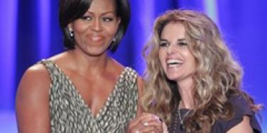 Michelle Obama Maria Shriver
