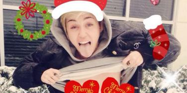 Miley Cyrus Nude Christmas Card Photo