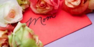 mother's day roses and card