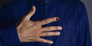 Men Are Painting One Fingernail To Fight Against Violence