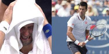 Novak Djokovic Crying At US Open