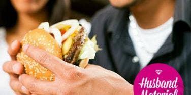 cheeseburger couple