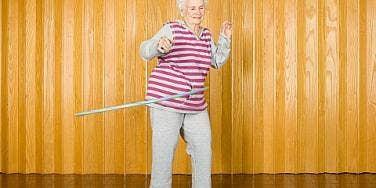 old woman dancing
