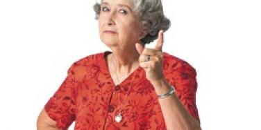 old woman wagging finger