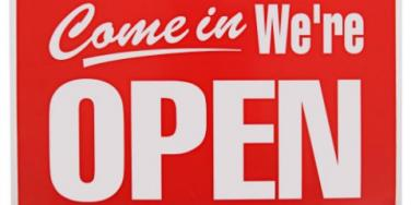 red open sign