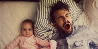 dad yawn