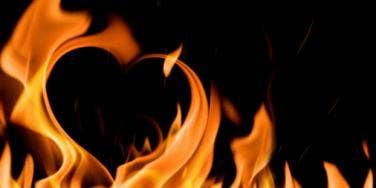 heart-shaped fire