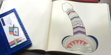penis coloring book