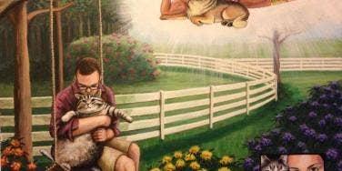Randy Savage pet painting