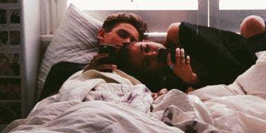 couple on phones