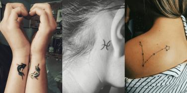pisces tattoos zodiac sign astrology horoscope tattoo