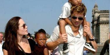 Angelina Jolie, Brad Pitt & the kids