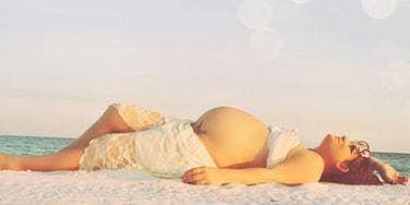 pregnant on the beach