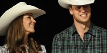 Prince William Kate Middleton cowboy hats