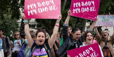 pro abortion protest