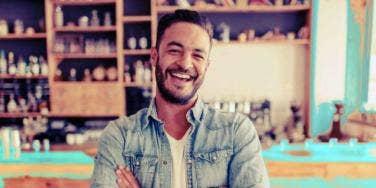 good man smiling