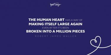 robert james waller quote about healing