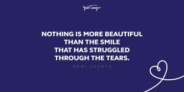 demi lovato quote about struggle