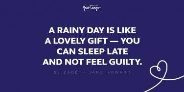 Elizabeth Jane Howard rainy day quote