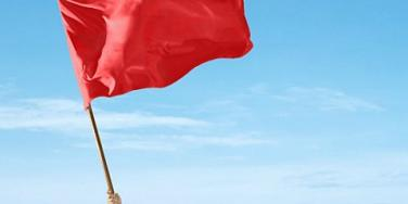 red flag wave