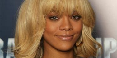 Rihanna with blonde hair