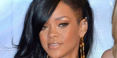 Rihanna gold hoops