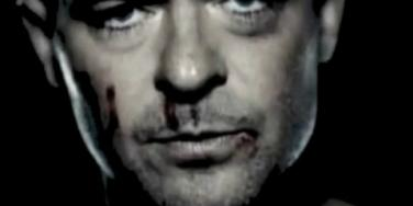 "Robin Thicke, bloody and bruised in his ""Get Her Back"" video from his upcoming album, 'Paula'"