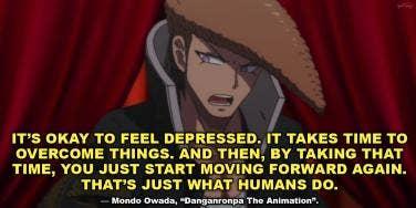 Mondo Owada sad anime quote