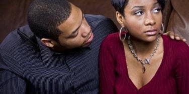 sad black couple