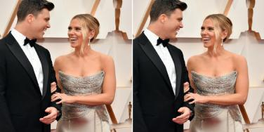 Is Scarlett Johansson Pregnant With Colin Jost's Baby? Oscars Red Carpet Dress Sparks Rumors