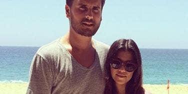 Scott Disick and Kourtney Kardashian on the beach, courtesy of Kourtney Kardashian's Instagram (instagram.com/kourtneykardash)